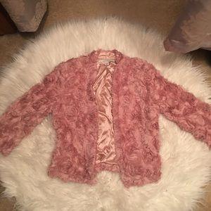Blush colored blazer